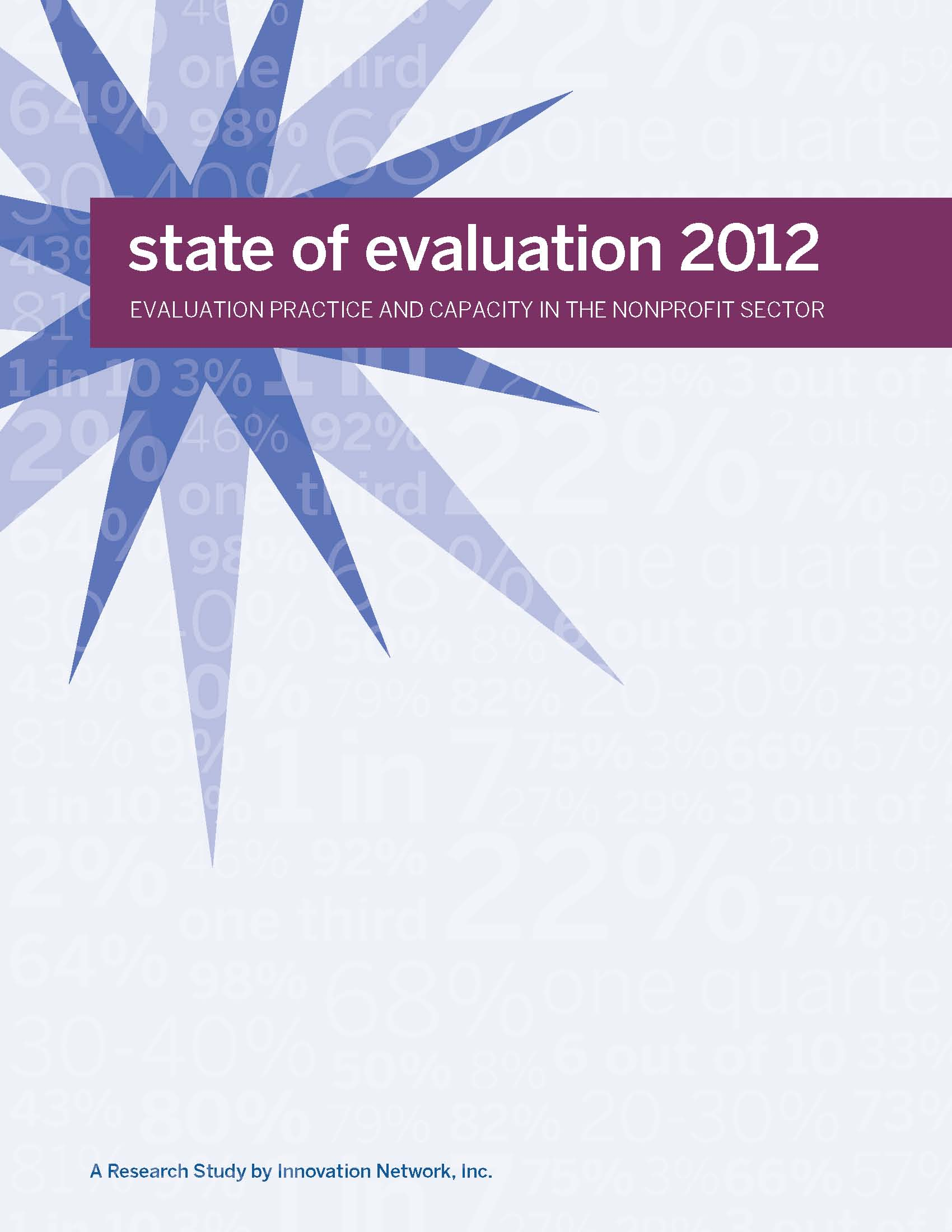 State of Evaluation 2012