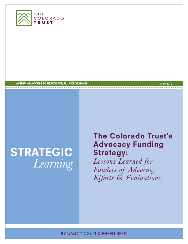 Lessons Learned for Funders of Advocacy Efforts & Evaluations